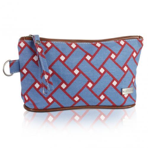 basketweave cosmetic bag in nantucket