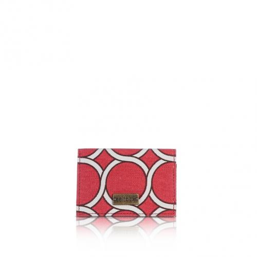 geo card holder in lychee