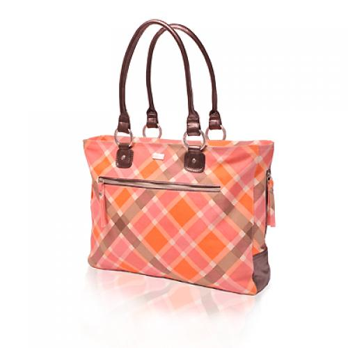 plaid day bag in magnolia
