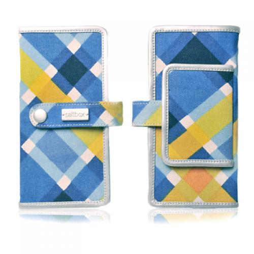 plaid day wallet in harbor