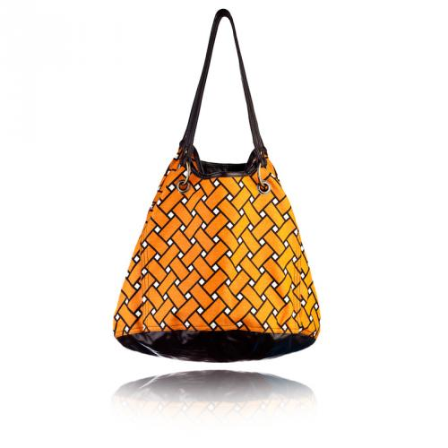basketweave getaway bag in squash