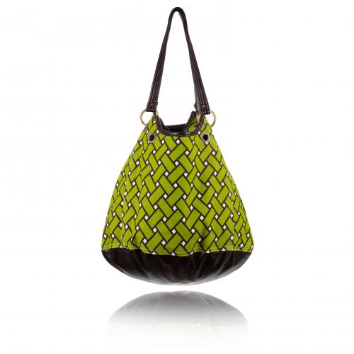 basketweave getaway bag in tiki