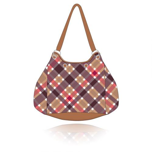 plaid getaway bag in dinah