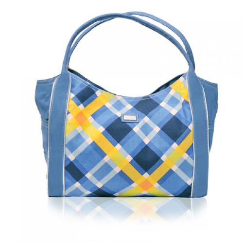 plaid gazebo bag in harbor