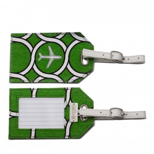 geo luggage tag in kiwi