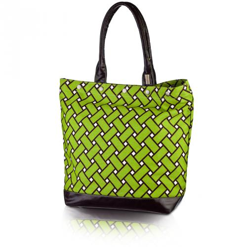 basketweave large tote in tiki