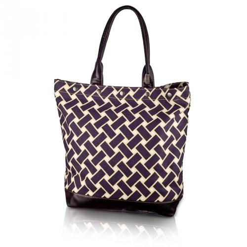 basketweave large tote in vineyard