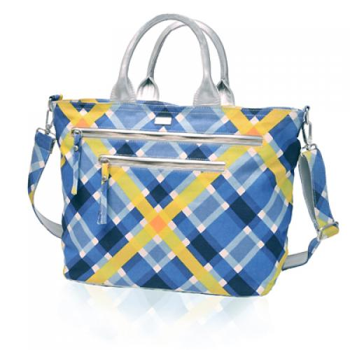plaid carryall in harbor