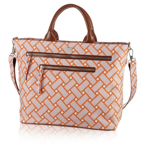 basketweave carryall in sherbet