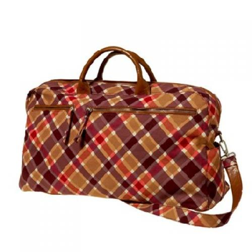 plaid travel bag in dinah