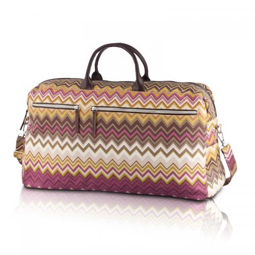 zigzag travel bag in cinnabar
