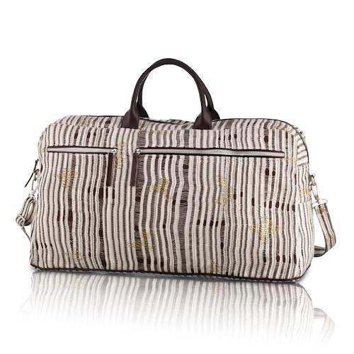 darn-knit travel bag in lichen