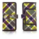 plaid day wallet in faryn