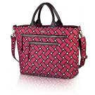 basketweave carryall in berry