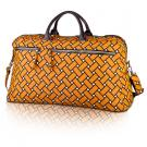 basketweave travel bag in squash