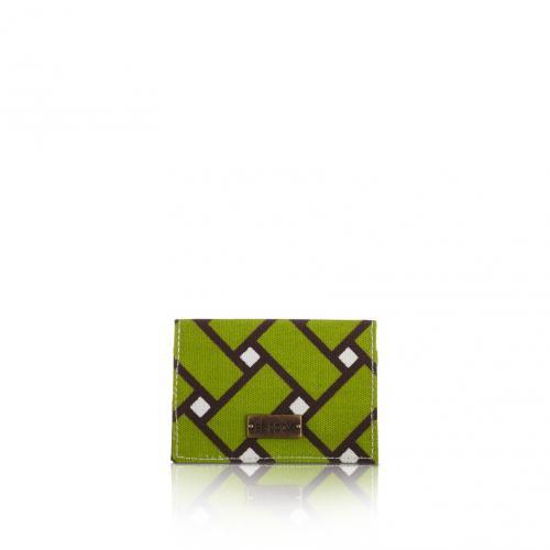 basketweave card holder in tiki