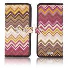 zigzag travel wallet in cinnabar